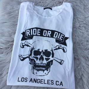 Brandy Melville T-shirt ride or die